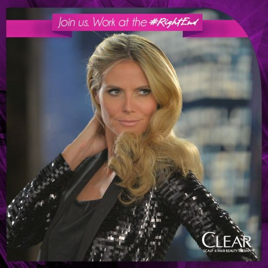 Heidi Klum, face and hair of CLEAR (Photo Credit:CLEAR)