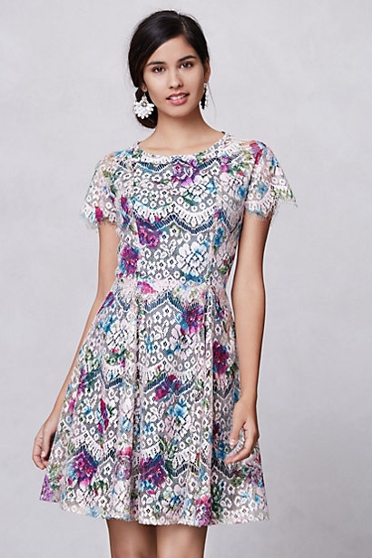 Lacepaint dress by Hunter Dixon.  $228 at Anthropologie
