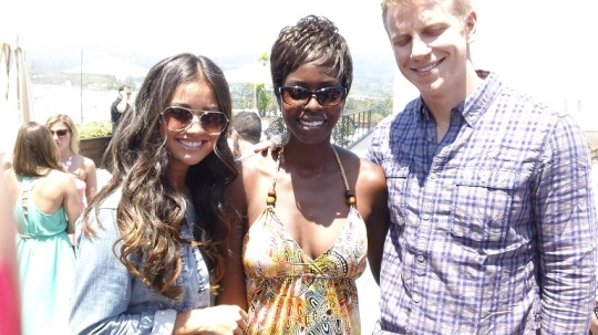 Catherine Guidici and Sean Lowe with his eyes closed!  Yeah, I'm a lot to take in ;)