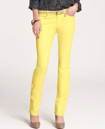 Ann Taylor jeans in Lemon Fizz