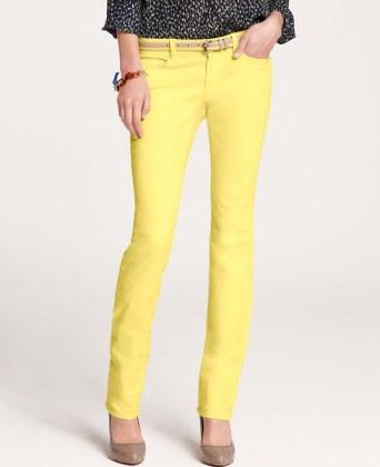 Ann Taylor jeans in Lemon Fizz