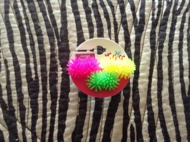 Yup, I went there - Koosh ball earrings
