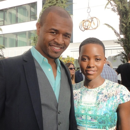 James Jolly with Lupita and color corrdinated!