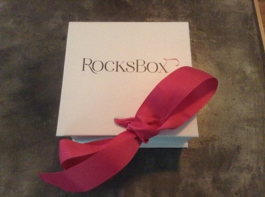 My RocksBox package - nicely done!