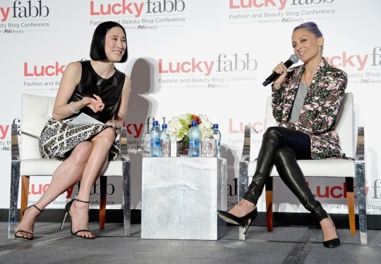 Eva Chen sits down with Nicole Richie to chat at Lucky FABB