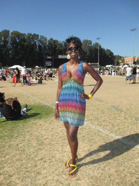 Hanging out at the JazzReggae Fest - Dress from Crossroads Trading Co.