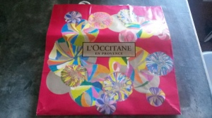 I love the vibrant color patterns on this L'Occitane bag, so it was perfect for the mask!